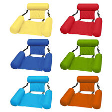 Inflatable Swimming Floating Chair Pool Seats Beach Water Bed Lounge Chairs