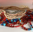 Job Lot Mixed Costume Jewellery - Beaded Necklaces