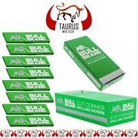 2500x BULL BRAND Tobacco Smoking Cigarette Rolling PAPER Cut Corners G Filter UK