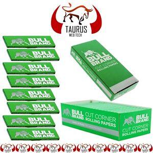 2500x BULL BRAND Tobacco Smoking Cigarette Rolling PAPER Cut Corners G Filter UK