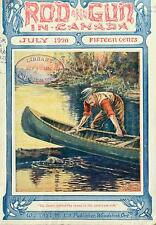 ROD AND GUN IN CANADA MAGAZINE  hunting guns fishing 1899-1922 260 issues DVD