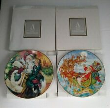 Vintage Avon Christmas Plates 1993 and 1994 Fine Collectibles