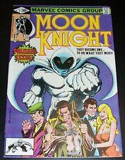 VF+ 8.5, Moon Knight 1, Sienkiewicz, First Bushman, Disney Plus TV, NEW 1980 B&B