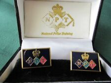 National Police Training Enamelled articulated cufflinks.