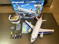 Playmobil City Action Cargo & Passenger Plane Jet 5261 Airliner Excellent Cond