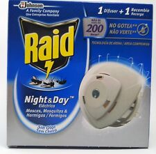 Raid Night & Day Mosquito Flies Repellent Full Pack Electric Diffuser + Refill