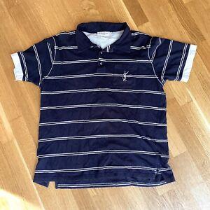 Vintage YSL Yves Saint Laurent Big Logo Polo Shirt Size XL