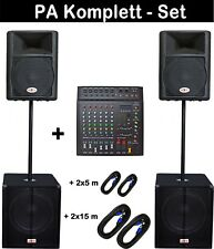 5200 watt Powermixer Musiker DJ PA Soundanlage Musikanlage Komplettanlage