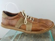 Camper Brown Tan Leather Striped Lace Up Casual Oxford Fashion Shoes Mens 12