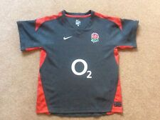 England Rugby Union Authentic Boys Youths Large 12-13yrs Shirt Jersey Grey Red