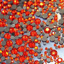 Assortiment strass ORANGE en verre hotfix s06 + s10 + s16 + s20 n°(131)