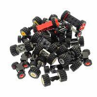 30 Lego System Achsen mit 60 Rädern Rad Räder Form und Farbe zufällig gemischt