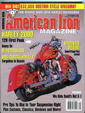 American Iron Magazine September 1999 Iron Curtain Harleys EX 020916jhe