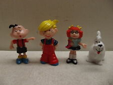 VINTAGE DENNISE THE MENACE FREUND JOEY MCDONALD MARGARET WADE DOG PVC FIGURE LOT