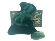 Nephrite Jade Lucky Stone Set 30mm Velvet Pouch Info Card QTY1 Canada Tumbled