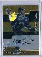 2001 BAP Signature Series Autographs Gold #159 Mathieu Schneider