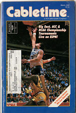 Cabletime TV Guide, March,1986, NCAA Basketball Tournament, Very Rare, FS