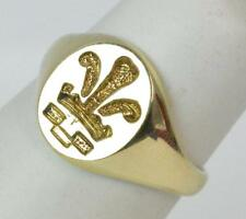 Engagement Signet Precious Metal Rings without Stones