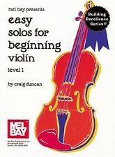 Fácil solos al inicio de violín, nivel 1