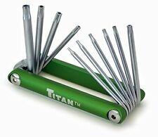 Titan 12710 Tamper Proof Star Key Set Home Wrenches Hex Torx Hand Tools Allen .
