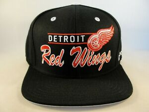 Detroit Red Wings NHL Reebok Snapback Hat Cap Black
