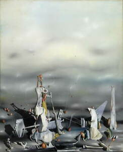 Yves Tanguy The Palace Of Window Rocks Giclee Paper Print Poster Reproduction