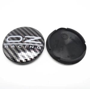 4x 63mm OZ Racing Wheel Center Caps Hub Cover Carbon M595 for Superturismo WRC