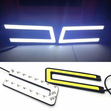 1PC U-Shaped 12V LED COB Car Auto DRL Driving Fog Lights Daytime Running Lamp