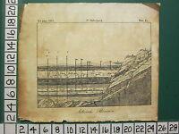 1810 Tedesco Stampa ~ Artesian Wells Orizzontale Sezioni Mountains