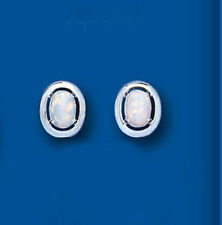 Markenlose Echtschmuck im Ohrstecker-Stil aus Sterlingsilber mit Opal Ohrschmuck