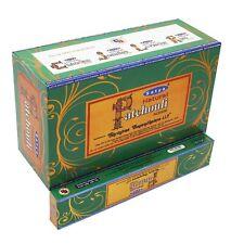 Full Box of Original Satya Natural Patchouli Incense Sticks  Joss - Nag Champa