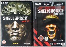 Traumatisme dû aux bombardements 1 + 2 PC DVD-ROM Vietnam War Shooter Games Set Brand New UK Top 18