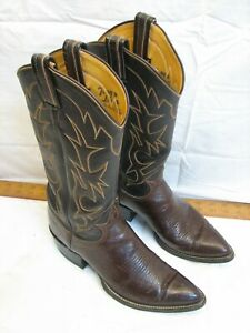 Womens Tony Lama Classic Leather Western Toe Cowboy Boots E4788 Stitched Upper