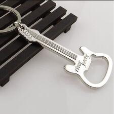 Guitar Bottle Opener Ring Keyring Chain Metal Bar Wine Beer Cap Hang Tool Gift3C