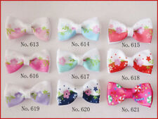 "100 BLESSING Good Girl Boutique 2"" Double Bowknot Hair Bow Clip Accessories"