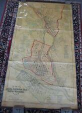 Large 1883 MAP OF ANSONIA, BIMINGHAM, DERBY, SHELTON,  WEST ANSONIA CT