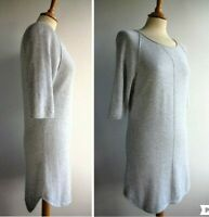 TRULY BY PART TWO Grey Tunic Jumper Top Cotton Angora Wool Mix Size S UK 10