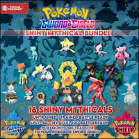 Shiny Mythical Bundle | Pokemon Sword & Shield | Legit | Ultra Shiny | 6IVS