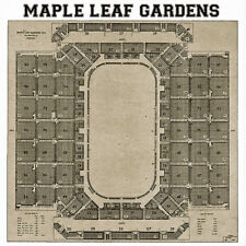 Toronto  Maple Leaf Gardens Seating Chart - 16x16 Photo