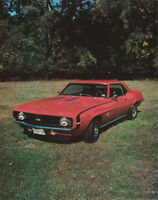 SMALL POSTER:CARS :1969 CHEVY CAMARO  - RED  FREE SHIPPING  ! #29-628   LP44 W