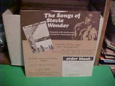 """""""STEVIE WONDER"""" MOTOWN RECORDS ORIGINAL FACTORY INNER SLEEVE ONLY NO RECORD"""