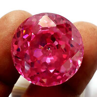 55 Ct. Beautiful Natural Pink Color Zircon Round Shape Loose Gemstone
