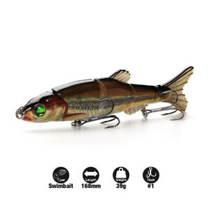 Big Joint Lures Glide Shad Swimbait Sinking Fishing Lure Bass and Game Fish Bait