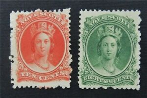 nystamps Canada Nova Scotia Stamp # 11.12 Mint   S17y2010
