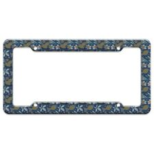Little Happy Pond Gold Fishes Pattern License Plate Tag Frame