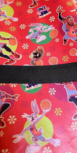 Space Jam Gift Wrap Set, Paper And Ribbon, see description