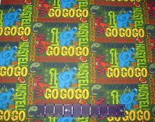 SESAME STREET FLANNEL ELMO COOKIE MONSTER FOOTBALL on COTTON Priced By The Yard