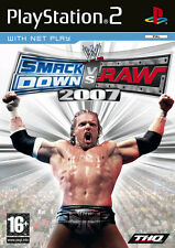 SMACK DOWN vs RAW 2007+ DVD New Year's REVOLUTION PS2 Play Station 2