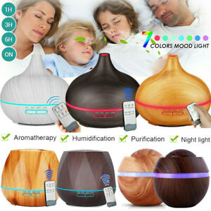 7 Farbe LED Licht Ultraschall Luftbefeuchter Aroma Diffuser Diffusor Humidifier