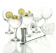 Cocktail Gin Tonic set of 6 glass + spoon + cup Measure